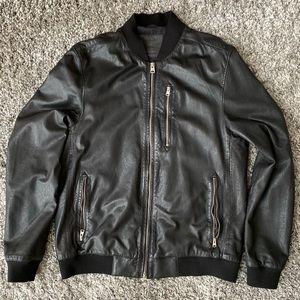 All Saints Kino Leather Bomber Jacket